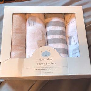 Cloud Island Baby Flannel Blankets